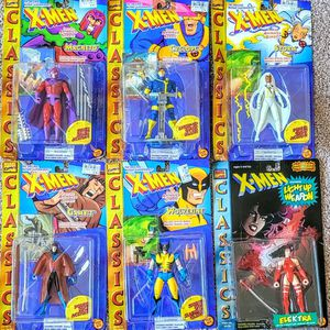 Vintage: (5)X-Men Classics Original Mutants with (1) bonus Elektra Classic- Toy Biz - Action Figures for Sale in Alexandria, VA