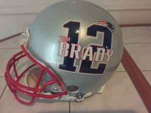Tom Brady full sized New England patriots Riddell football helmet jersey $500 obo for Sale in Houston, TX