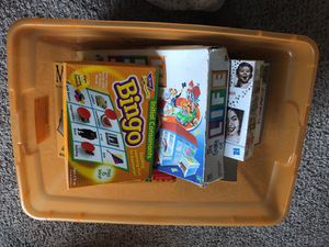 Box of games and puzzles for Sale in Houston, TX