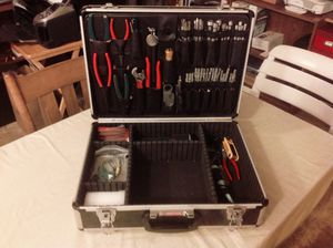 Aluminum tool case with tools for Sale in Park Ridge, IL