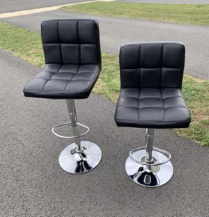 Black faux leather bar stools for Sale in Falls Church, VA