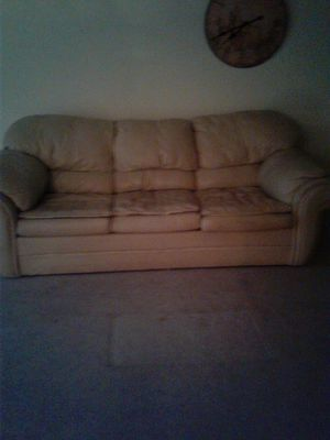 Leather sofa bed for Sale in Springfield, VA