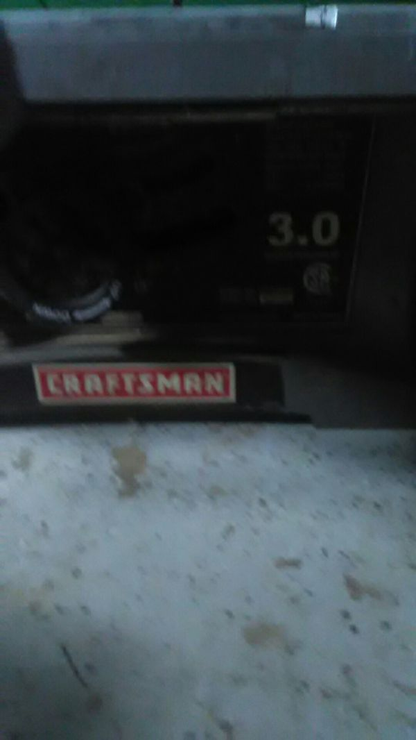 Craftsman table saw, hardly used in great condition