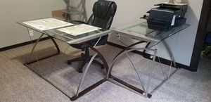 4 piece L shape office desk for Sale in Westlake, LA