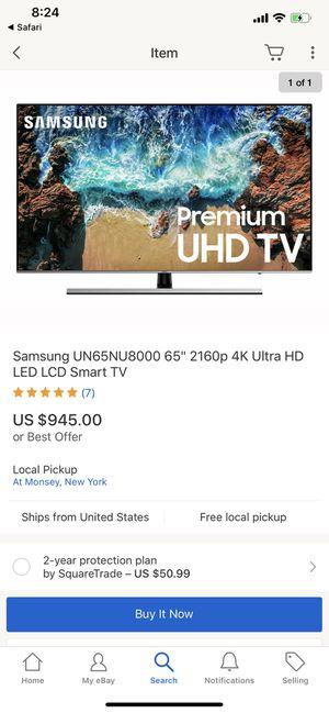 Samsung un65mu8000f 4K uhd tv,Apple TV 3 and 29in vizio soundbar for Sale in Evergreen Park, IL