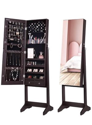 Jewelry/Make-up Organizer with Full Mirror for Sale in Irvine, CA