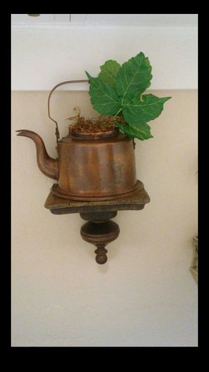 Copper wall decor, half coffee pot mounted on wood. Firm price. Deer vly 67th ave pikup for Sale in Glendale, AZ