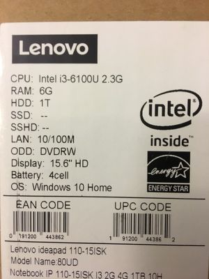 Lenovo ideapad 110-15ISK & hp monitor for Sale in Hartford, CT