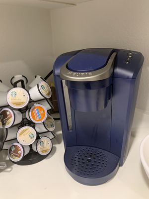 Blue Keurig coffee maker and coffee for Sale in San Diego, CA