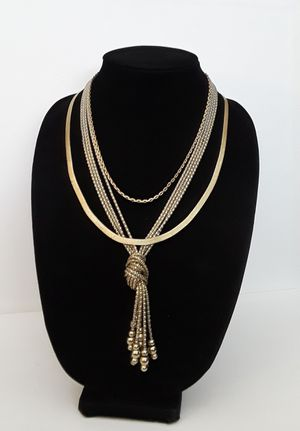 Lot of Vintage gold tone necklaces 1/20 14k gf for Sale in Tulsa, OK