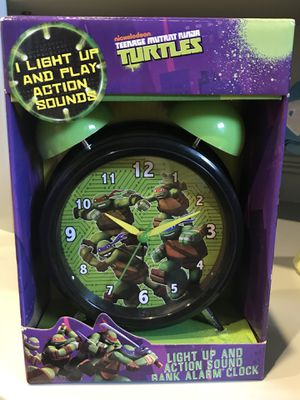 Ninja turtles clock for Sale in Pasadena, TX
