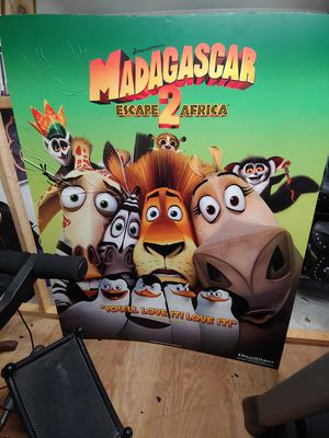 5'x6' Madagascar movie posterboard for Sale in Winterville, NC