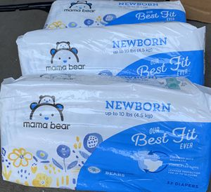 3 Packs of Newborn Diapers up to 10lbs for Sale in Pennsauken Township, NJ