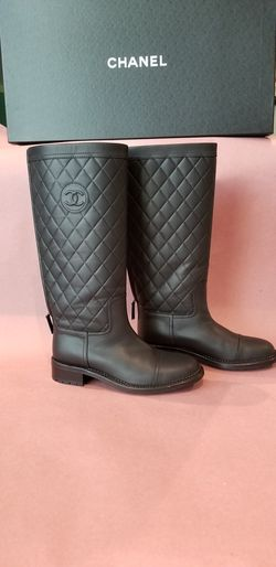CHANEL oily calfskin leather quilted boots BNIB for Sale in Dulles,  VA