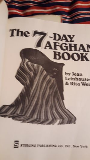 The 7 -Day Afghan Bookby jean Leinhauser for Sale in Riverside, CA