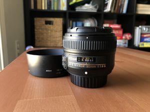 Nikon AF-S Nikkor 50mm 1:1.8G for Sale in Houston, TX