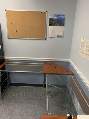 Glass Too L Shape Desk for Sale in Silver Spring, MD