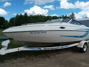 1999 19.5ft searay boat with cabin for Sale in Powers, MI