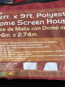 13ft X 9ft Polyester Dome Screen House for Sale in Gonzales,  CA