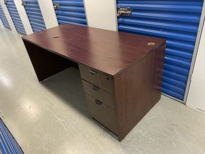 Wood cherry Desk L-shaped for Sale in Peachtree Corners, GA