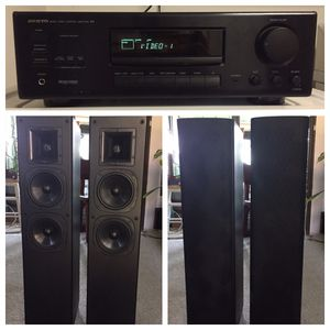 Onkyo Amplifier and Klipsch SF2 Speakers Stereo System for Sale in Mesquite, TX