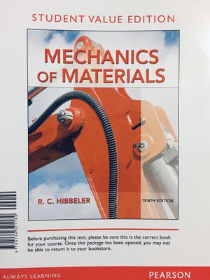 Mechanics of materials Textbook for Sale in Starkville, MS