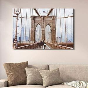 ((FREE SHIPPING)) brooklyn bridge - giclee print gallery wrap modern home decor Painting like print for Sale in Mountain View, CA