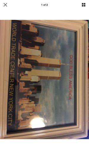 Rare 4x7 World Trade Center picture in wooden frame for Sale in Boulder City, NV
