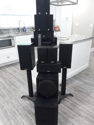 Yamaha surround sound stereo system with remote control and 12 speakers for Sale in Seminole, FL