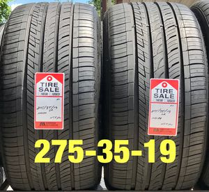 2 used tires 275/35/19 Nexen N5K (A+) for Sale in Houston, TX