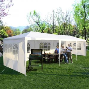 10'x30' Outdoor Gazebo Wedding Tent White 5 Walls Christmas Dinner Party Gazebos Steel Frame for Sale in Sacramento, CA