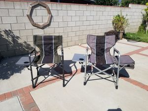 Outdoor Spectator Folding Chairs with Side Table. 1 has a Cooler. for Sale in Azusa, CA