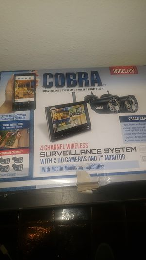 COBRA 4 CHANNEL WIRELESS SURVEILLANCE SYSTEM for Sale in Phoenix, AZ