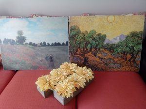 Room Decor Paintings and Faux Flowers for Sale in Wake Forest, NC