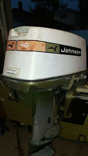40 hp johnson trade for 20-25 hp for Sale in Riverview, MI