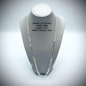 Sterling Silver 925 SOLID NEW Cuban Chain Mens Necklace for Sale in New York, NY