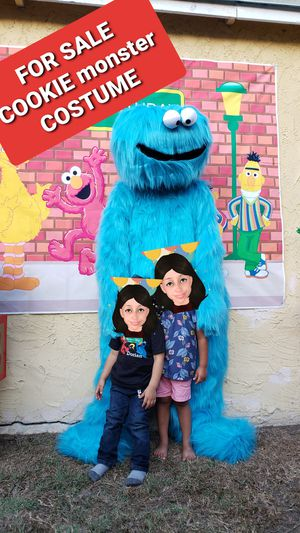 Cookie monster costume character suit for SALE sesame street party for Sale in Long Beach, CA