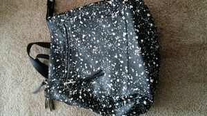 Women's black and white paint splatter backpack/purse for Sale in Fort Washington, MD