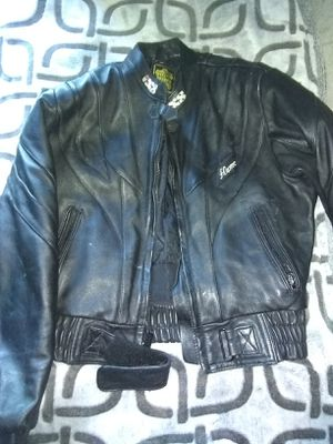 Leather riding jacket and pants. for Sale in Visalia, CA