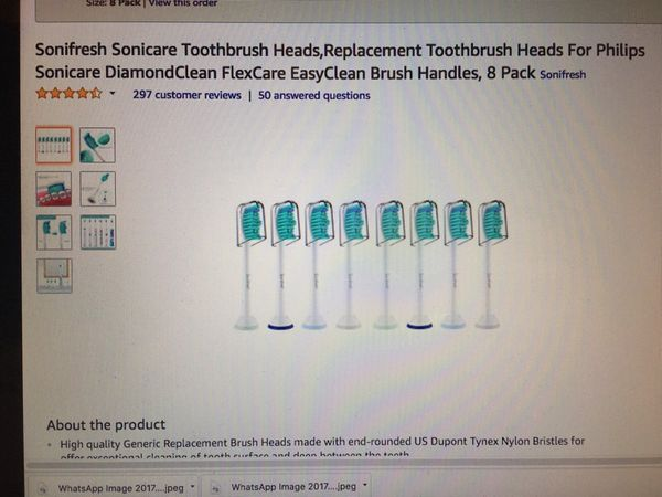 Philips Sonicare Electric Replacement toothbrush head