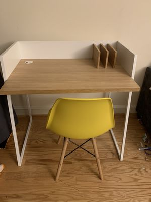 Modern desk with yellow chair for Sale in Washington, DC