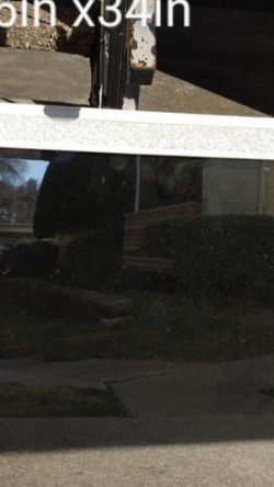 White Beveled Mirror With Crystals. 26 inches By 34 inches for Sale in Mesquite,  TX