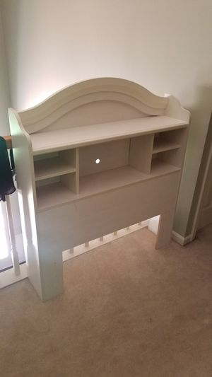 White headboard with shelves twin for Sale in Canton, MI