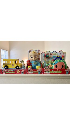 Cocomelon Musical Bundle JJ Plush Doll, Doctor Checkup Set, and School Bus Set for Sale in Los Angeles, CA