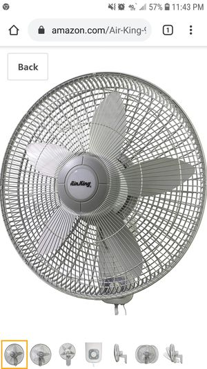 Air King 9018 Commercial Grade Oscillating Wall Mount Fan, 18-Inch for Sale in Coal City, IL