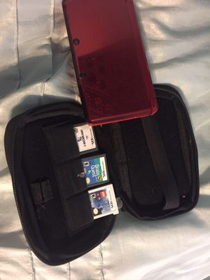 3 DS with three games for Sale in Old Town, ME