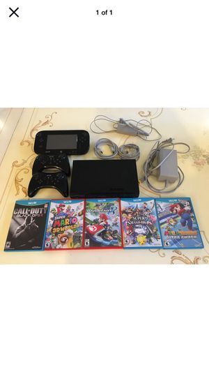 Nintendo Wii U 32GB Console Bundle Deluxe Set - Black 5 Games + 2 Controllers! for Sale in Santa Monica, CA