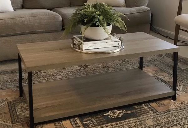 Distressed Gray Oak Coffee Table