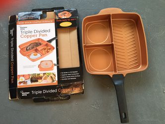 Triple divided copper pan for Sale in Los Angeles,  CA