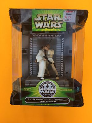 90s Star Wars Silver Anniversary Luke and Leia Swing To Freedom for Sale in Missoula, MT